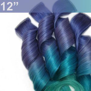 Rainbow Real Human Hair Extensions Clip in Pastel Colored Ombre Mermaid Hair